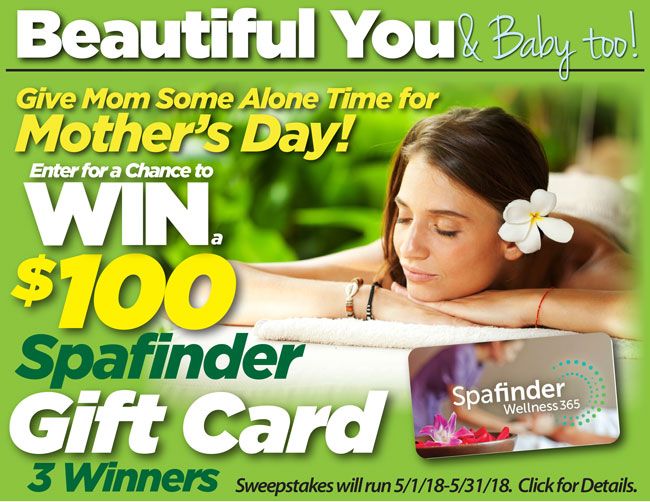 Beauty and Baby Club May 2018 Spafinder Giveaway