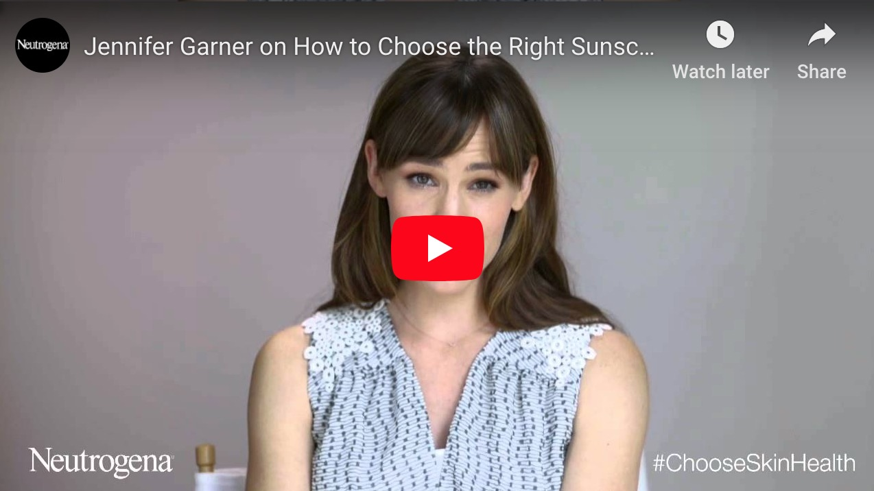 Jennifer Garner on How to Choose the Right Sunscreen for Sensitive Skin | NEUTROGENA®