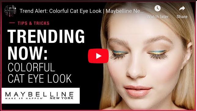 Trend Alert: Colorful Cat Eye Look | Maybelline New York
